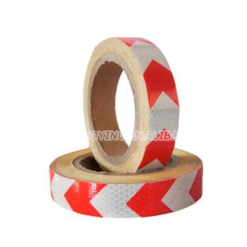 Высокий видимый клетчатый красный и белый лента PVC предупреждающий