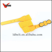 Fashion Yellow Women's Dressy Elastic Belt