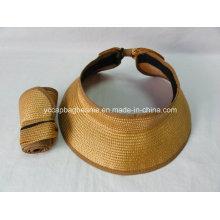100% бумажная соломенная шляпа Sun Visor