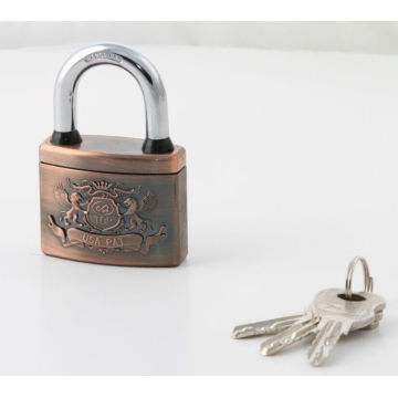 Plastic Cover Arc Shape Atom Padlock Red