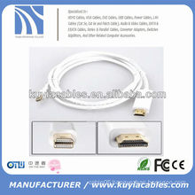 Hot sale good quality gold plated mini dp to hdmi cable 6FT/1.8M