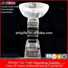 Trophée de produit professionnel Trophée de main en cristal personnalisé