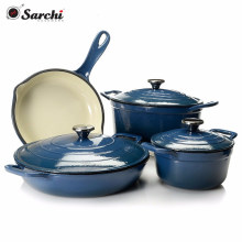 cast iron casserole cookware set