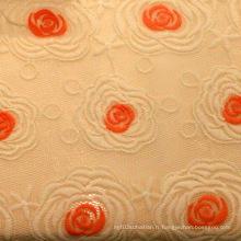 Tissu en maille en polyester à broder