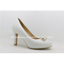 16ss New White Leather High Heels Lady Shoes