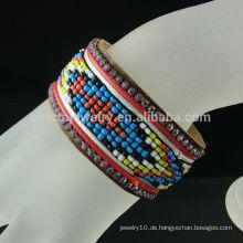 Großhandelsneues Armband-Brasilien-Art-Knopf-Leder-Armband BCR-017-1