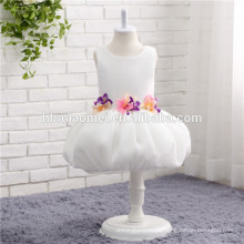 Miúdos Meninas Criança Bebê Princesa Vestido Bow Flower Party Tutu Vestidos Sem Mangas