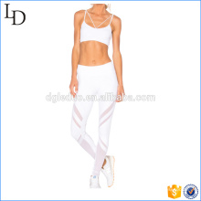 Back crisscross women yoga suit uniform bra with legging yoga wear