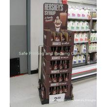 Durable Product Display Racks , Showroom Or Supermarket Paper Floor Display