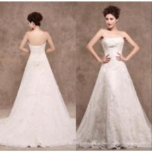 Uma linha de renda vestido de noiva nupcial xz1521