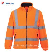 Venta al por mayor personalizada Hi Vis Workwear Clothes clase 3 alta visibilidad invierno construcción seguridad trabajo chaqueta con rayas reflectantes