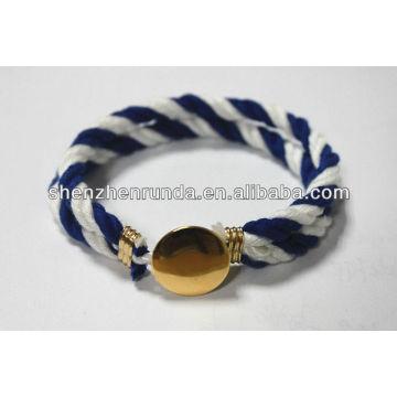 Brazalete de la pulsera del botón de la manera pulsera de la cuerda Manufactures & Suppliers & Factory