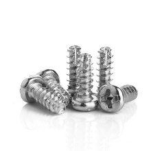 Stainless Steel 304 M2 M2.3 M2.5 M2.6 M3 M4 Pan Head Flat Cutting Thread Tail Self Tapping PT Screw for Plastic