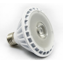 led cob par30 spotlight aluminum white finish