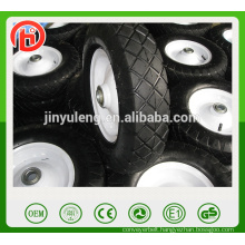 popular square pattern pneumatic rubber wheel for wagon , wheelbarrow