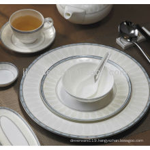 A024 eco-friendly grace decor hotel porcelain dinner set