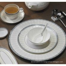 A024 eco-friendly grace decor hotel porcelain dinner set