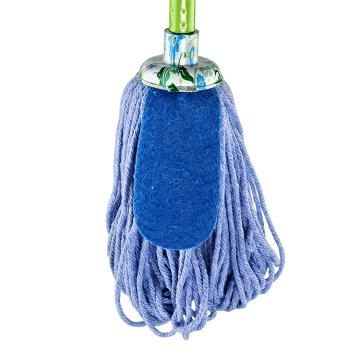 Alta qualidade personalizado meio ambiente 100% algodão piso redondo Mop cabeça