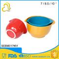 Euro food stardard bamboo melamine color plastic batter bowl