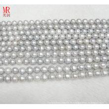 Bracelet en perles d'eau douce rond en forme de 9-10mm (ES185)