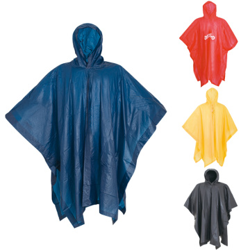 poncho colorato in pvc per adulti