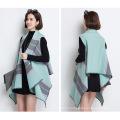 Women Fashion Striped Viscose Nylon Knitted Shawl Vest (YKY4525)