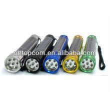 Aluminium-Legierung 7led Solar Powered Rechargeable Fackel