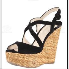Neue Art von Keil Frauen Sandalen (HS13-107)