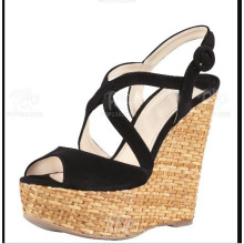 Novo estilo de sandálias de cunha feminina (HS13-107)