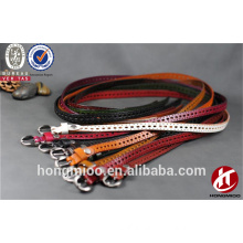Holes desigen casual full grain cowhide leather women chastity belt with colorful