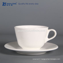 Custom Company Logos on White Porcelain Tea Cup And Saucer Wholesale