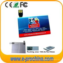 Preço de atacado Cartão de Crédito Barato 2 ~ 16 GB USB Flash Drive para Amostra Grátis