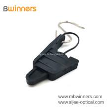 Pince de suspension de câble de câble de fibre optique en plastique FTTH