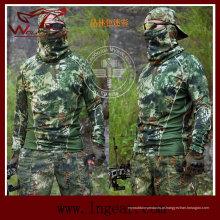 Tactical Kryptek rápido secar a camiseta de manga comprida de esporte ao ar livre