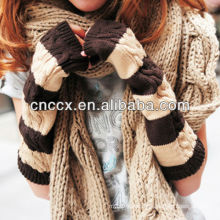 PK17ST319 ladies fashion cable knitted arm warmers