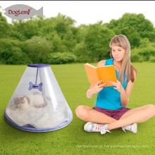Casa transparente do animal de estimação da caverna pequena da cama do cão com a cama removível do animal de estimação do cachorro quente do coxim para o gato