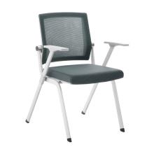 Cadeira de sala de reunião empilhável de moldura cinza para belo escritório