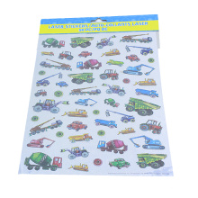 Camion drôle de bande dessinée pour les autocollants de vinyle de décalque de décor à la maison d'enfants