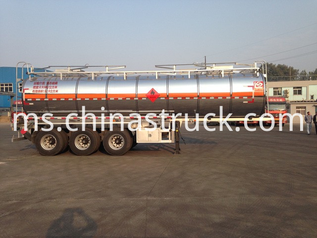 33000 Liters Liquid Sulfur Tanker Trailer