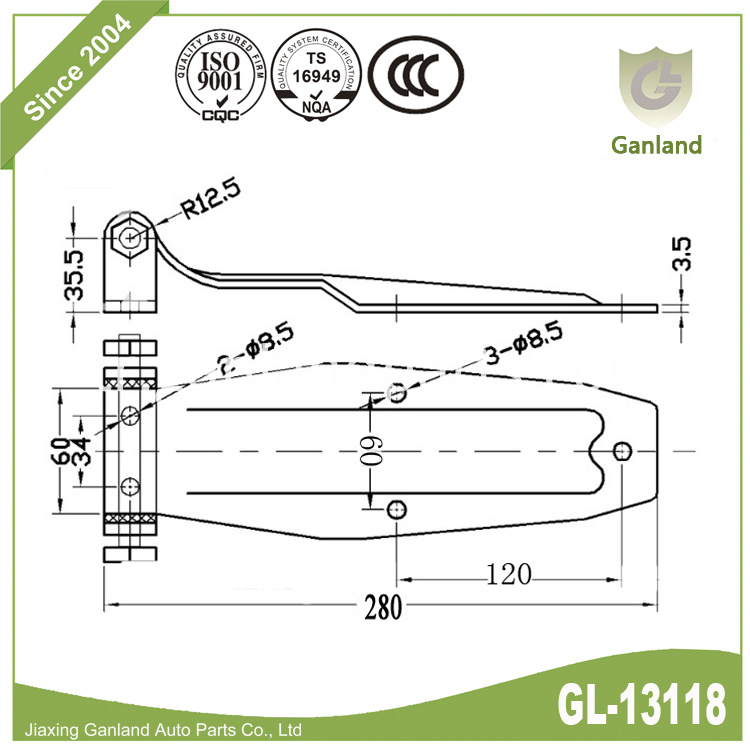 Band Hinge specification gl-13118
