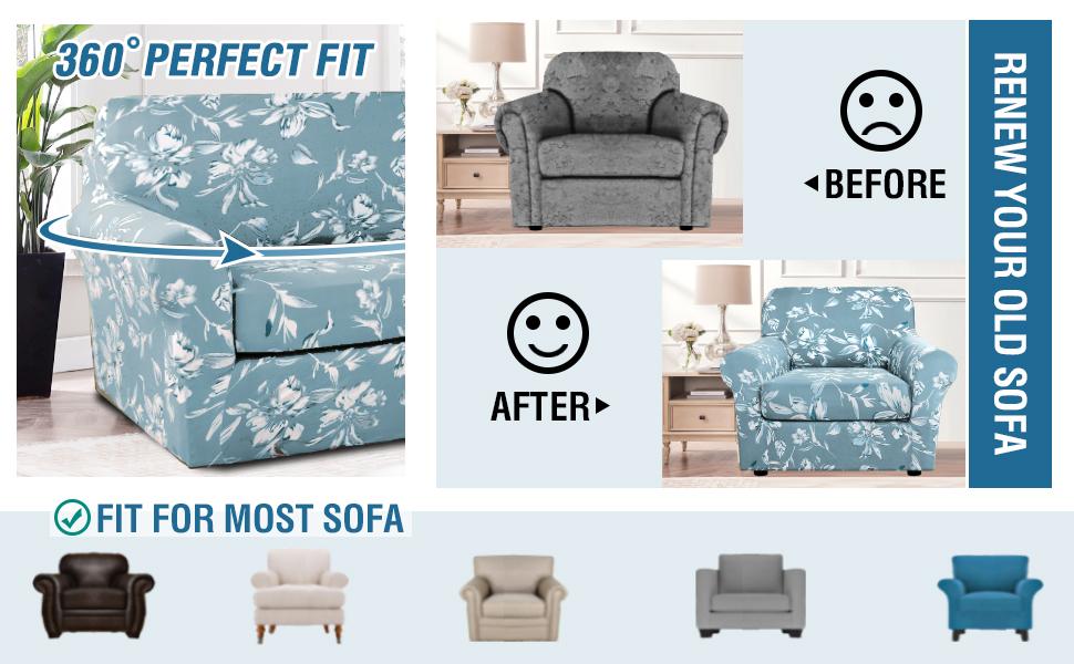 High Quality Printing Sofa Cover