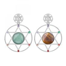 Natural Crystal Hexagonal Star Energy Stone Pendant for women Men