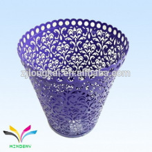 Beautifuy products supply flower shape decorative metal trash bin