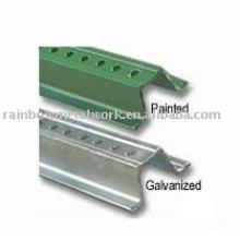 Baked Green Enamel Steel U-Channel,Sign Post