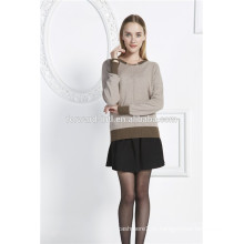 женщин круглый-образным вырезом кашемировый вязаный свитер