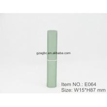 Delgado e elegante batom caneta de alumínio em forma de tubo E064, copo tamanho 8,5 mm, cor personalizada