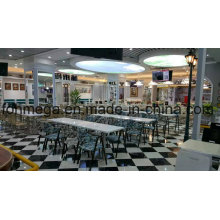 Luxury Solid Surface Restaurant Table with Chairs (FOH-CMY83)