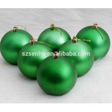 "3.25 ""Matt Finish Plastic Green Christmas Ball"