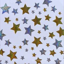 Etiquetas decorativas feitas sob encomenda do plástico das estrelas da tira do ouro