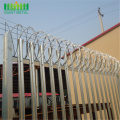 powder coated galvanized security palisade fence